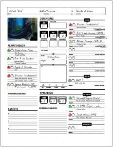 Weem's Combat Sheet