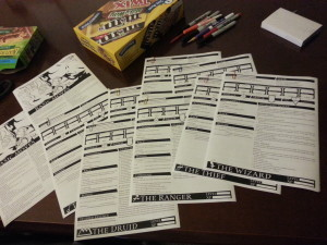 Basic Moves and Character Sheets, printed and ready to go!
