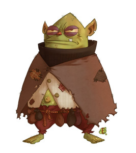 This Goblin, from eduardovieira (DeviantArt) is not what the Goblin Leader looked like... though he does look more civilized than a standard Goblin...