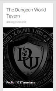 The Dungeon World Tavern, Google Plus Community has been awesome