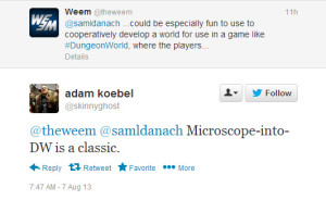 Adam Koebel (co-creator of Dungon World) told me these games play well together (more on this below)