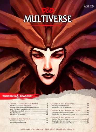 D&D 5th Edition Multiverse Planescape Cover